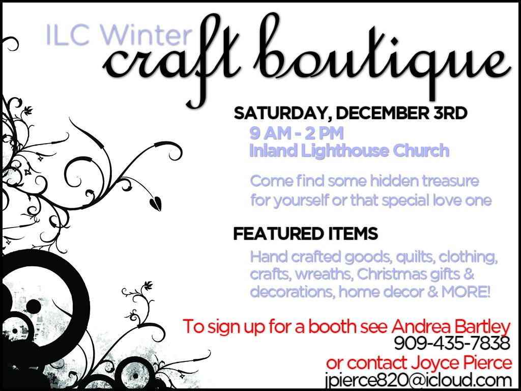 December 3 | ILC Winter Craft Boutique