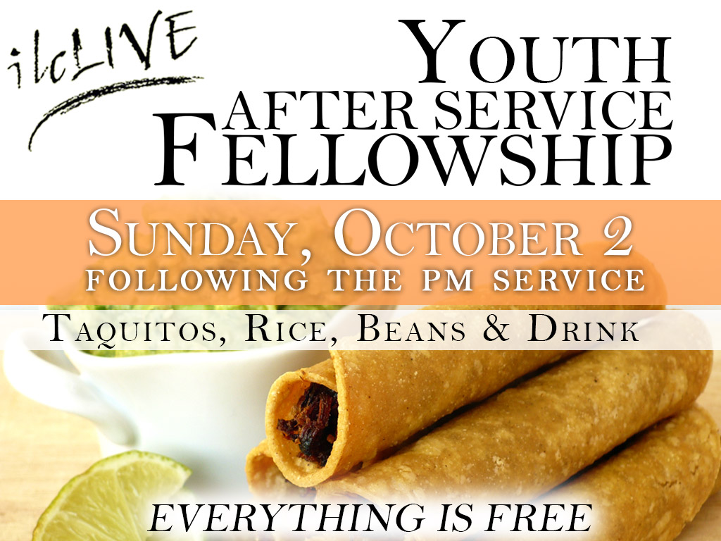 October 2 | Youth After Service Fellowship