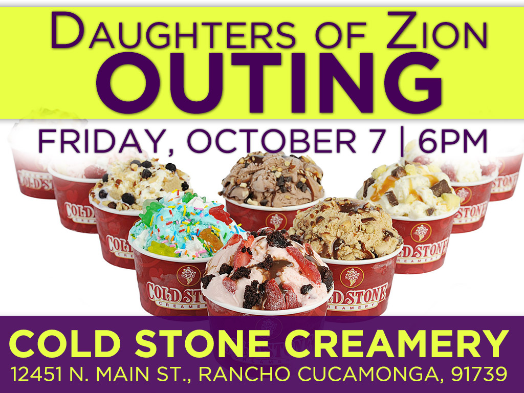 October 7 | DOZ Outing – Cold Stone