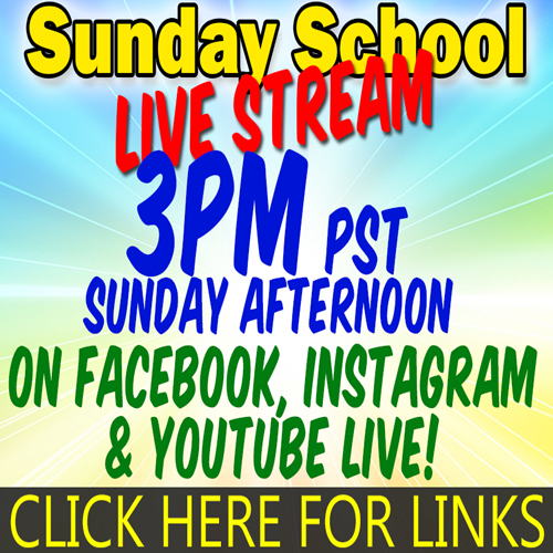 Online Sunday School  | 3pm Every Sunday