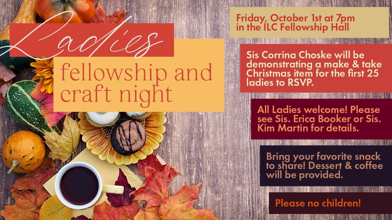 Ladies Craft Night | October 1, 2021