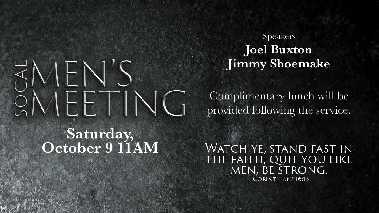 Men's Meeting | October 9, 2021